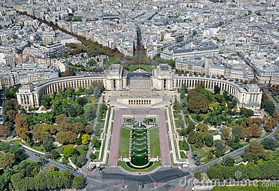 View from Eiffel tower on Trocadero