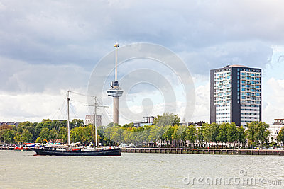 View of the embankment in Rotterdam