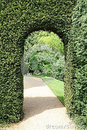 View of an English Manor Garden