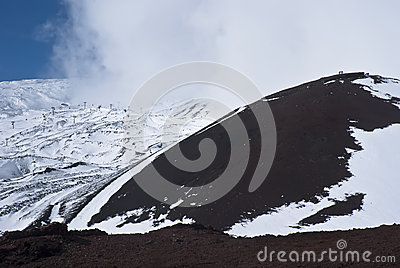 View of Etna volcano.