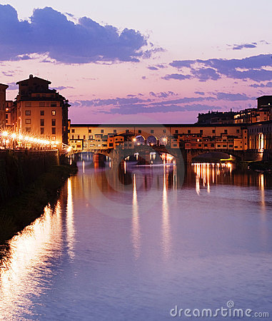 View of the famous Ponte Vecchio