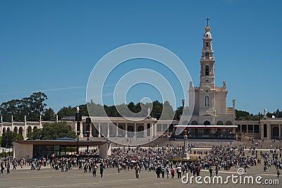View of Fatima Santuary Editorial Stock Photo