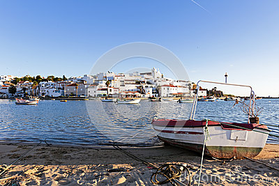View on Ferragudo in Portugal