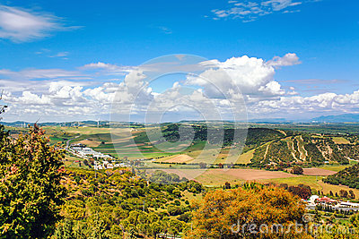 View on fields of Andalusia