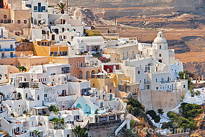 The view of Fira city, Greece