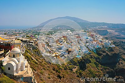 View of Fira in Santorini