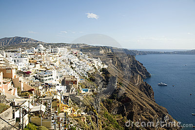 View of Fira, Santorini, Greece