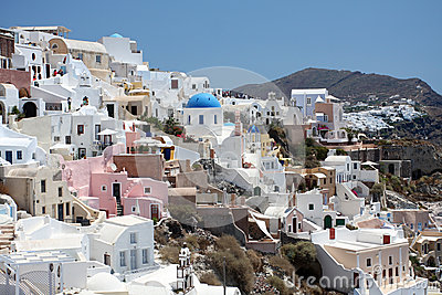 View of Fira town. Santorini