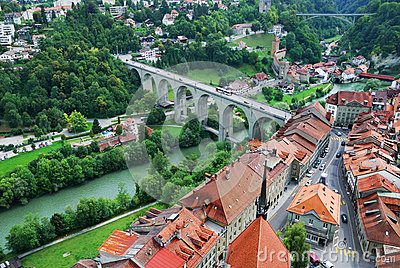 View of Fribourg from above