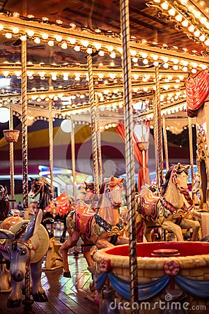 Free View From A Carousel At Night Stock Photo - 125030960