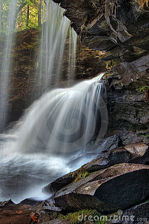 Free View From Behind The Falls Royalty Free Stock Photos - 16846698