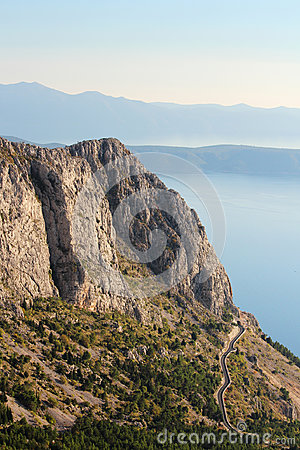 Free View From Biokovo Mountain To Croatian Islands And The Adriatic Sea Royalty Free Stock Photo - 94571745