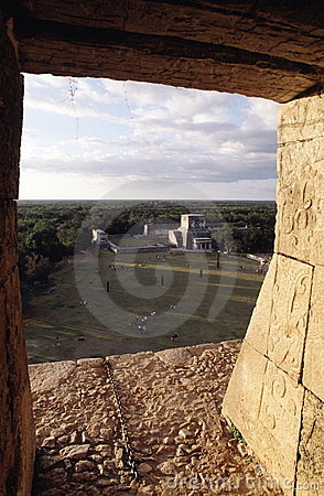 Free View From Inside A Pyramid Royalty Free Stock Image - 2586846