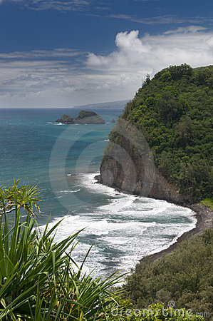 Free View From Pololu Lookout, Big Island, Hawaii Stock Photo - 11201320