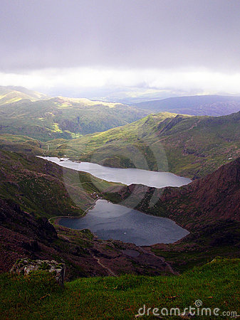 Free View From Snowdon Peak - Wales Royalty Free Stock Photography - 6214347