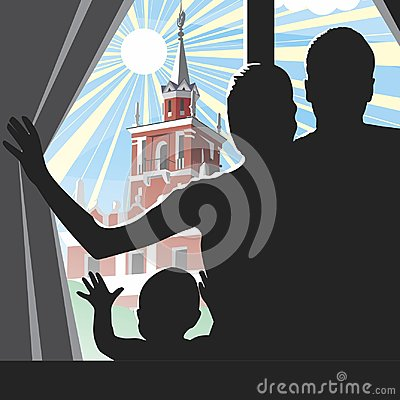 Free View From The Window. Vector Format. Stock Image - 107480131