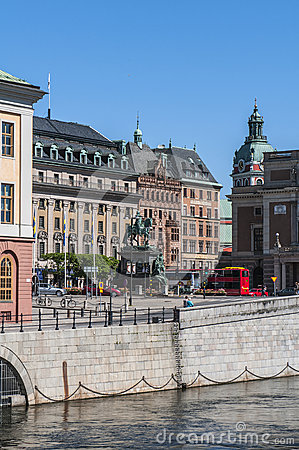 View of Gamla Stan (the Old Town)