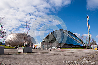 View of Glasgow science museum and Imax cinema Editorial Image