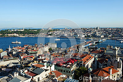 View of Golden Horn,Topkapi and Bosporus, Istanbul,Turkey Editorial Photography