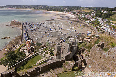 View from Gorey castle