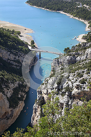 View of Gorges du Verdon in France