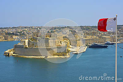 View Of Grand Harbour, Valletta, Malta.