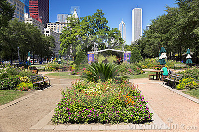 View of Grant Park (Chicago) Editorial Image