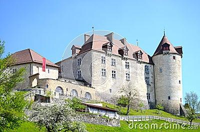 View on Gruyeres castle