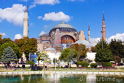 A view of Hagia Sophia in Istanbul