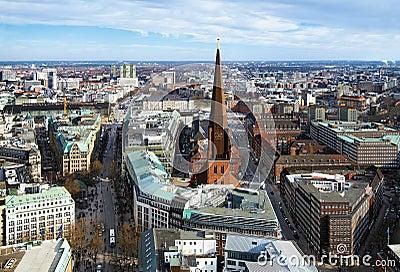 View of Hamburg and St. Jacobi church