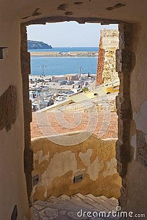 View of the harbor at Castellammare del Golfo