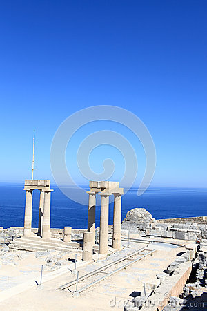 View Of Hellenistic Stoa Stock Photo - Image: 28047120