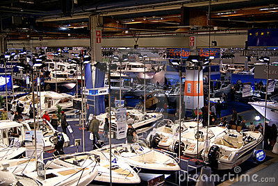 View of Helsinki Boat Show 2009 Exibition Editorial Photography