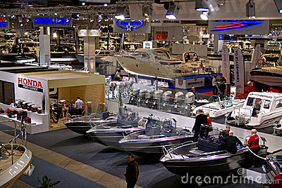 View of Helsinki Boat Show 2009 Exibition Hall Editorial Photo