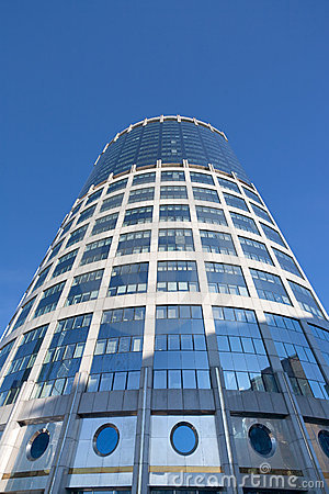 View on high office building