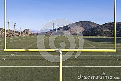 View of a High School football field