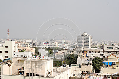 Aerial View, Hyderabad, India