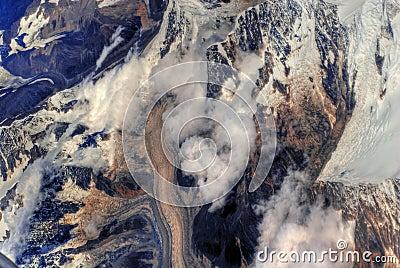 View of Himalayan mountains