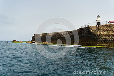 The view of historic sea walls Editorial Stock Image