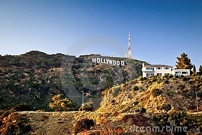 View of Hollywood sign in Los Angeles Editorial Image