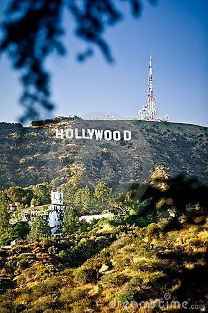 View of Hollywood sign in Los Angeles Editorial Photo