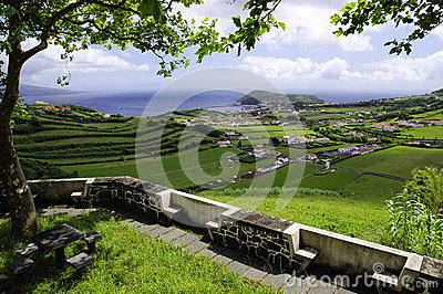 The view of Horta Bay, Faial
