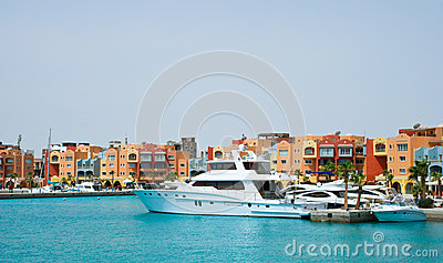 View Hurghada Marina, Egypt Editorial Photo