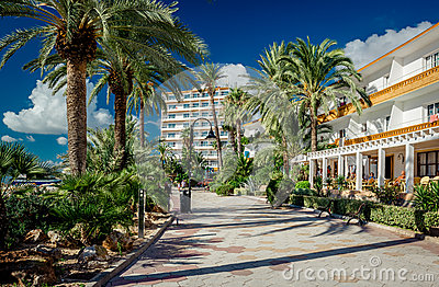 View of Ibiza seafront Editorial Stock Photo