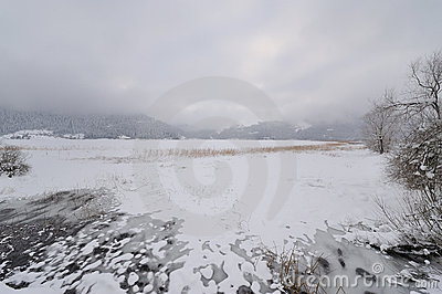 View of Iced Abant lake