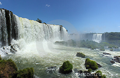 View from Iguassu Falls in a sunny day of summer