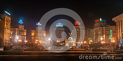 View of Independence Square, Kiev Editorial Photo