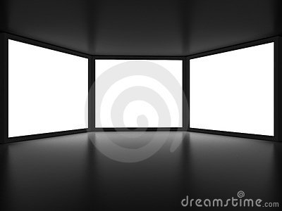View from inside of dark room