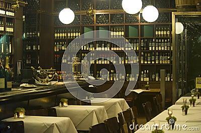 View inside restaurant