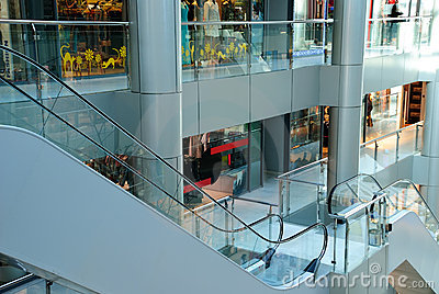 View on an interior centre shopping